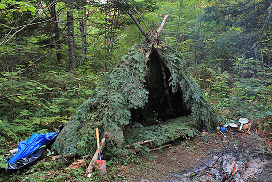 wilderness survival shelter